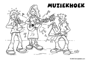 Coloring page music corner