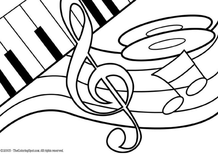 Coloring page music theme