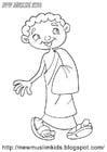Coloring page muslim boy