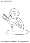 Coloring pages muslim boy