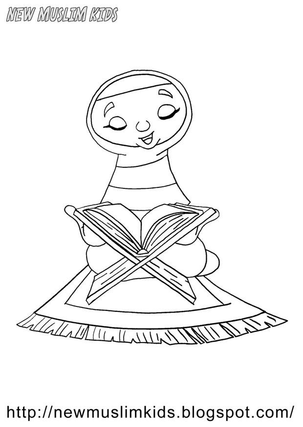 Coloring page muslim girl img