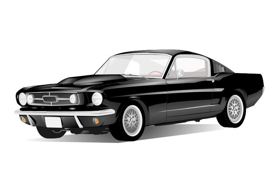 Coloring page mustang