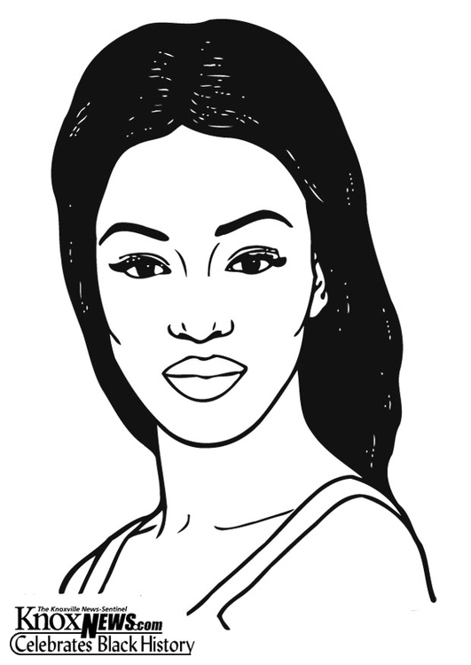Coloring page Naomi Campbell