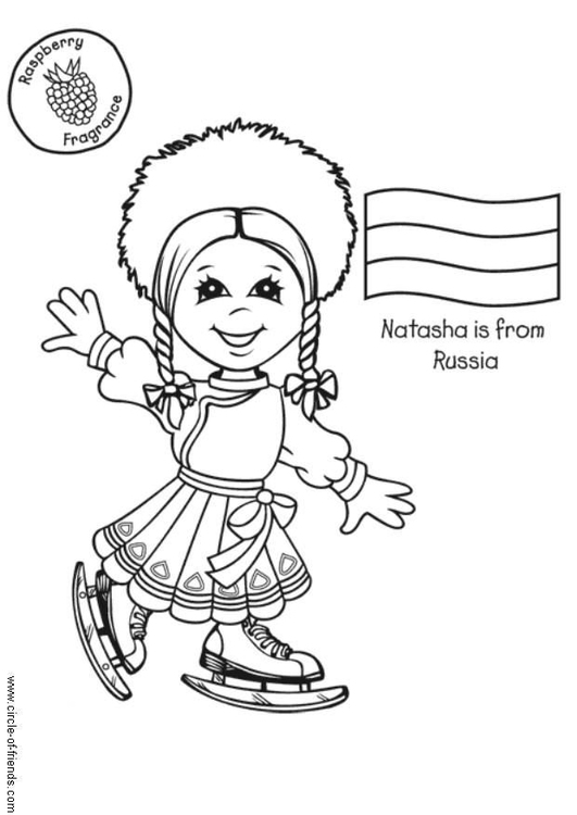 Coloring page Natasha from Russia