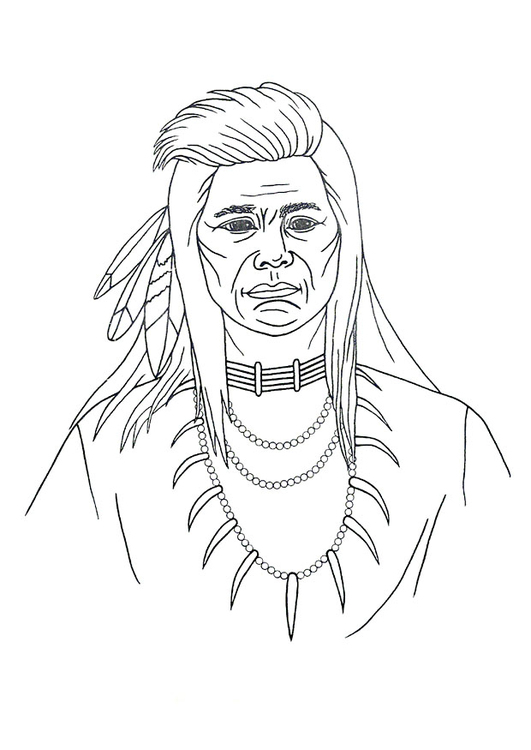 Coloring page native american