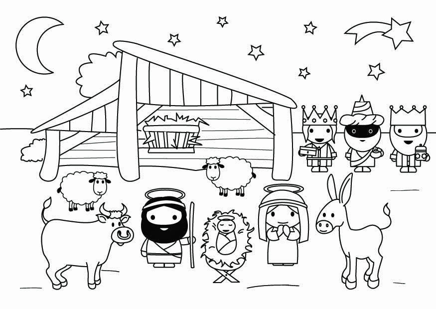 Coloring Page Nativity Scene Free Printable Coloring Pages Img 26799