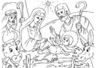 Coloring pages nativity scene