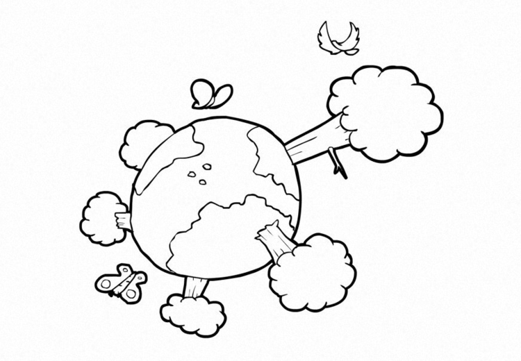 Coloring page Nature - Climate - The earth