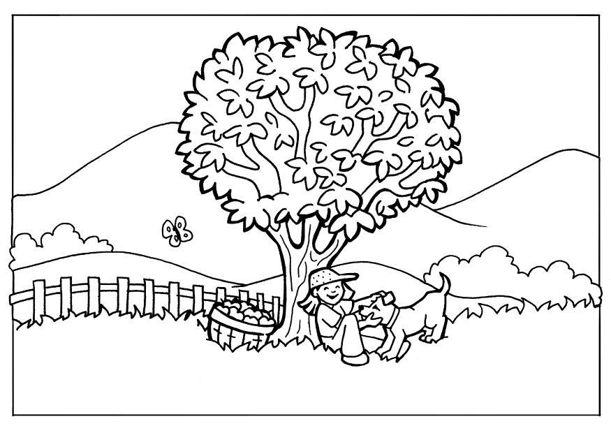 coloring pages nature. Coloring page nature |