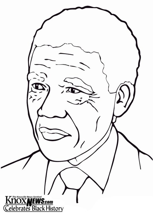 Coloring page Nelson Mandela