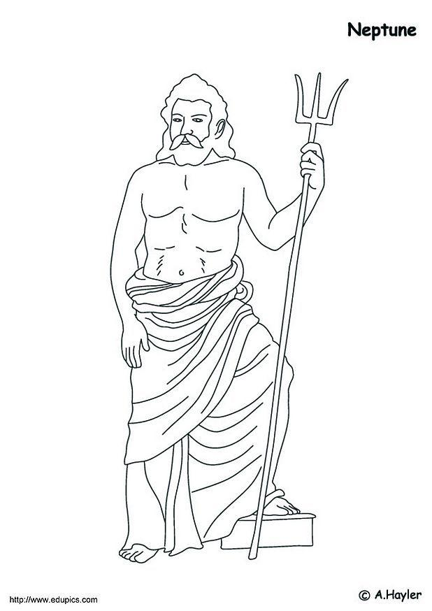 poseidon coloring pages eume