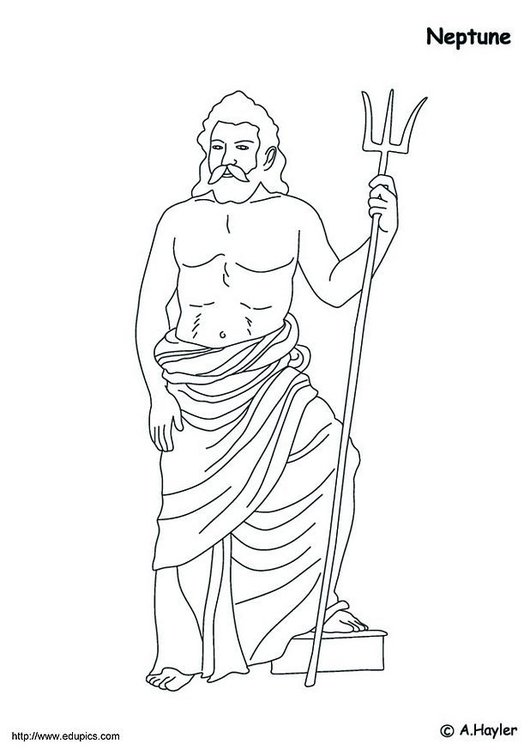 Coloring page Neptune