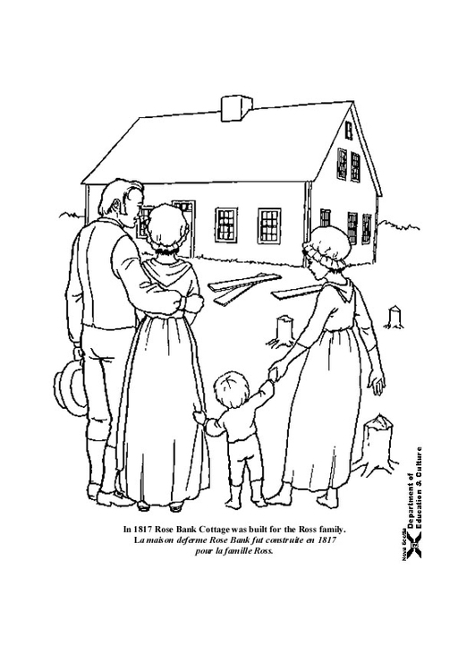 Coloring page new house