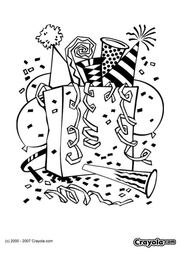 Coloring Page New Year Party Img 7829