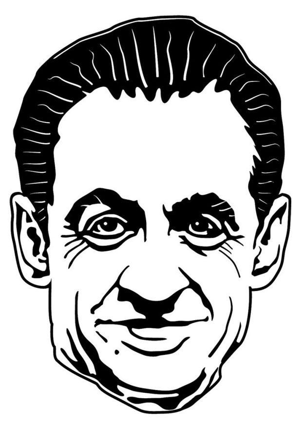 Coloring Page Nicolas Sarkozy Free Printable Coloring Pages