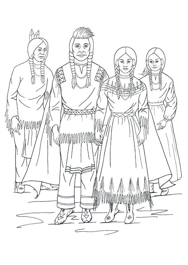 Coloring page Nimipu Indians - img 9909.