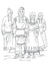Coloring page Nimipu Indians