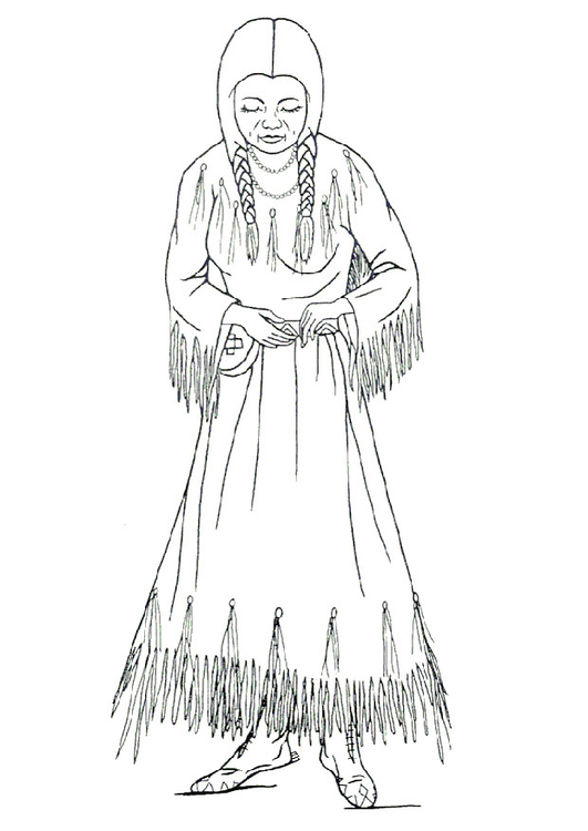 Coloring page Nimipu woman