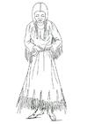 Coloring page Nimipu woman