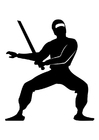 Coloring pages Ninja