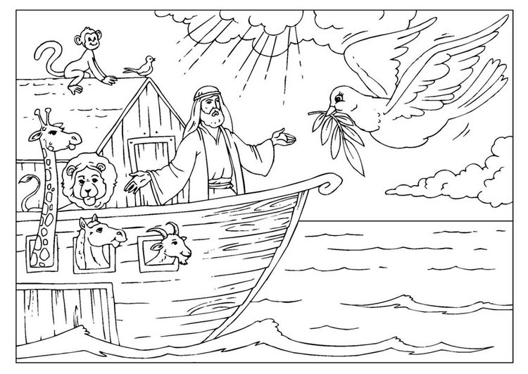 Coloring page Noah's Ark