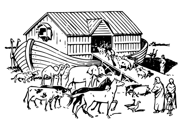 Coloring page Noah\'s ark - img 29136.