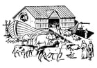 Coloring pages Noah's ark