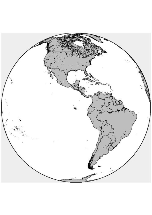 Coloring page North and South America