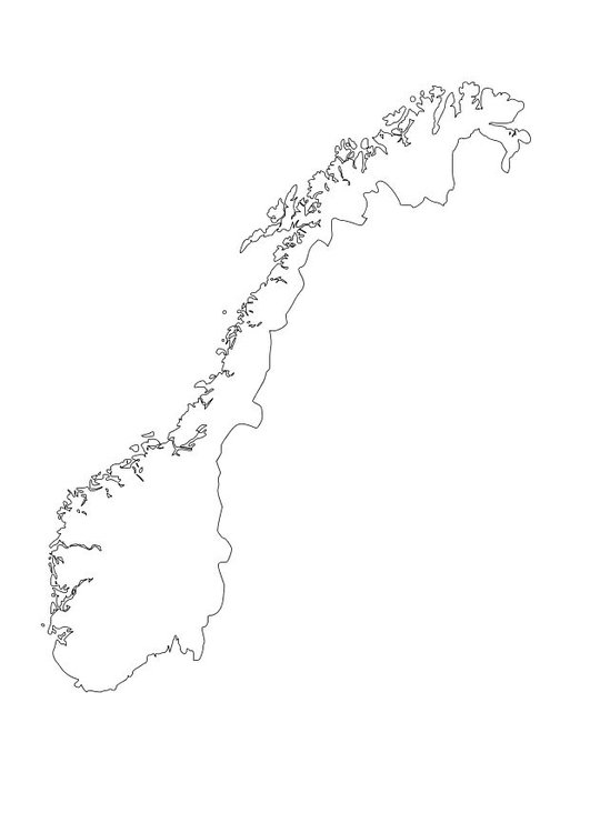 Coloring page Norway