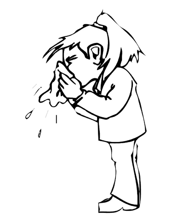 Coloring Page Nose Blowing