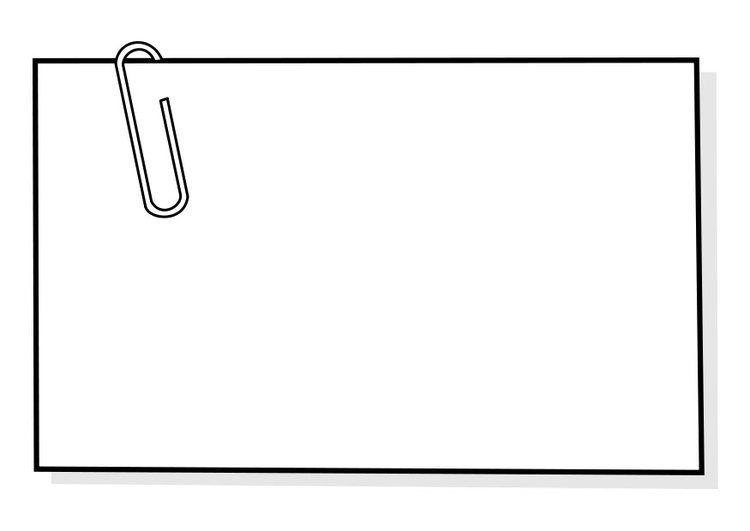 Coloring page note paper