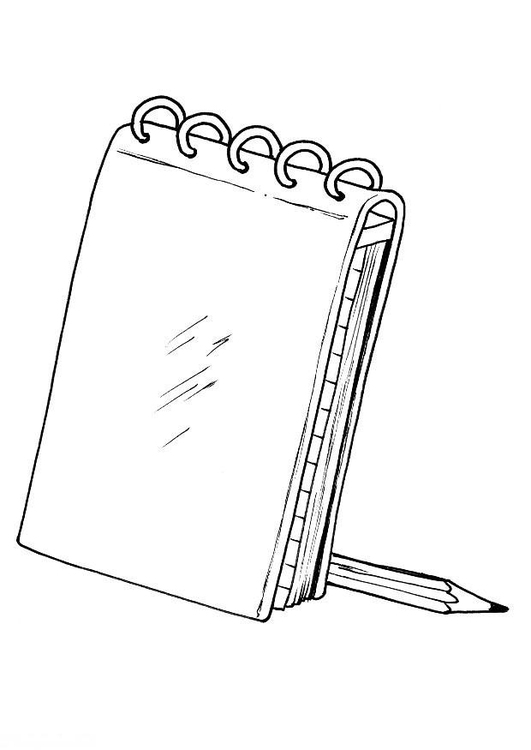 Coloring page notebook