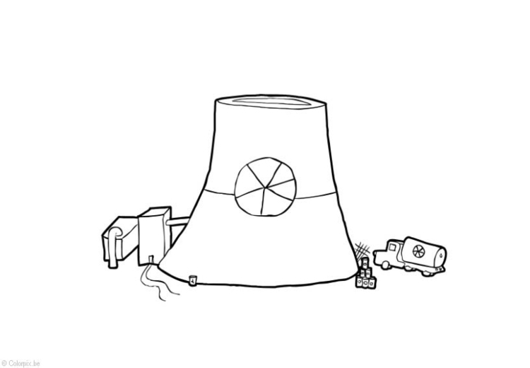 Coloring page Nuclear Energy