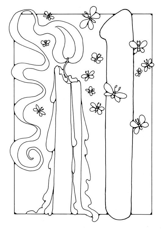 Coloring page number - 1
