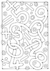 Coloring page Numbers