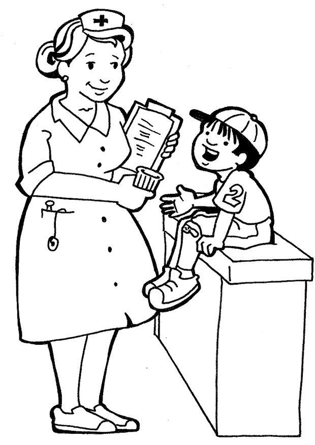 Coloring page nurse img 7150 Images