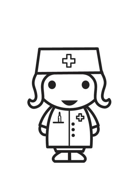 Coloring page Nurse  img 18292