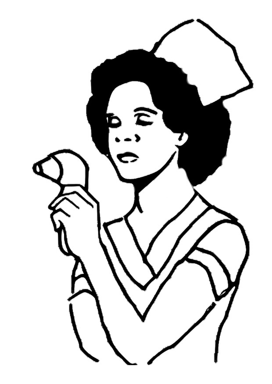 Coloring page nurse img 25569 Images