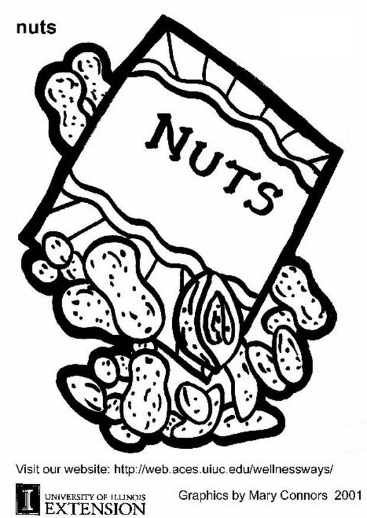 Coloring page nuts