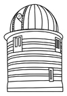 Coloring pages observation tower