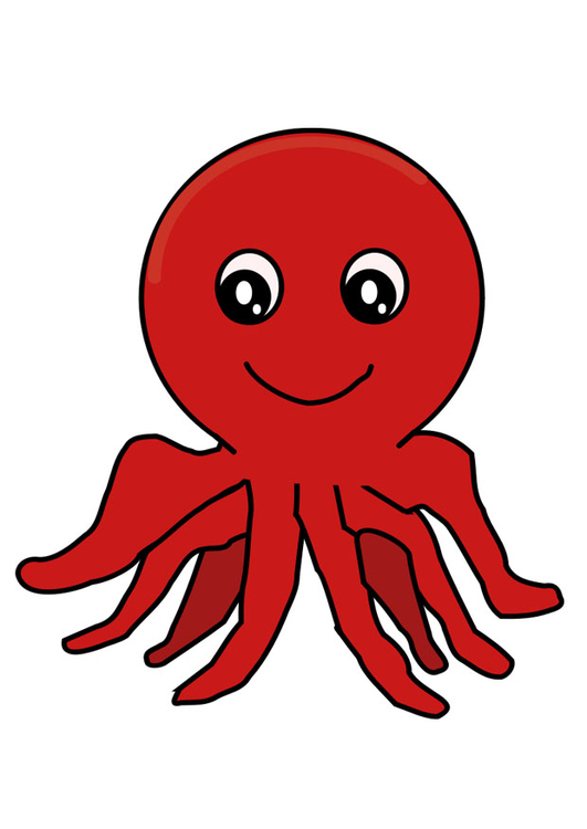 Coloring page octopus - img 29323.