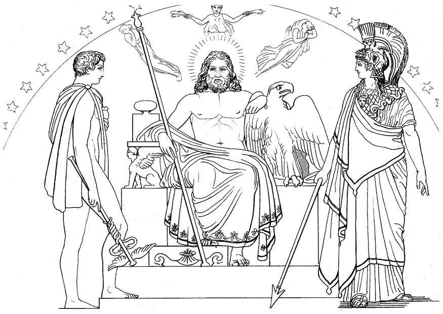 Coloring page oddyseus hermes zeus and athena img 17476 for Odysseus coloring pages