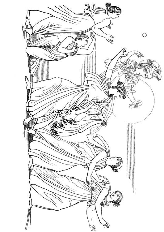 Coloring page oddyseus nausicaa img 17488 for Odysseus coloring pages