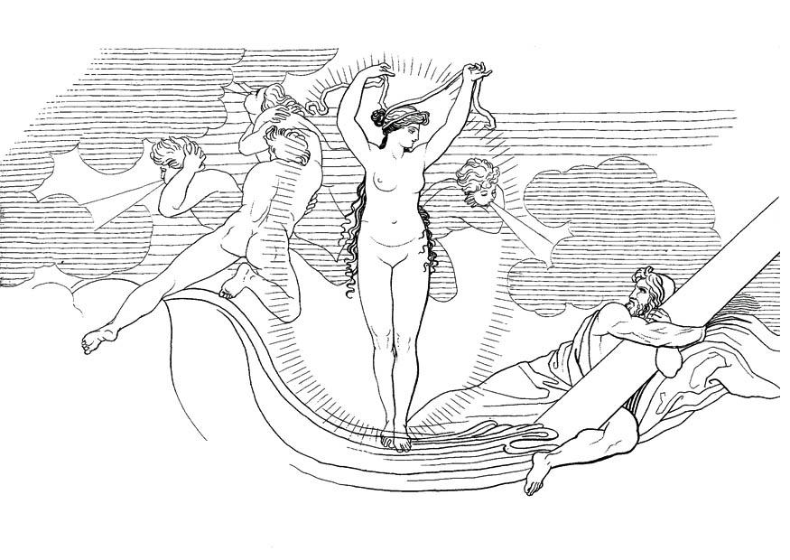Coloring page oddyseus neptune raises a storm img 17477 for Odysseus coloring pages