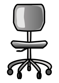 Coloring page office chair