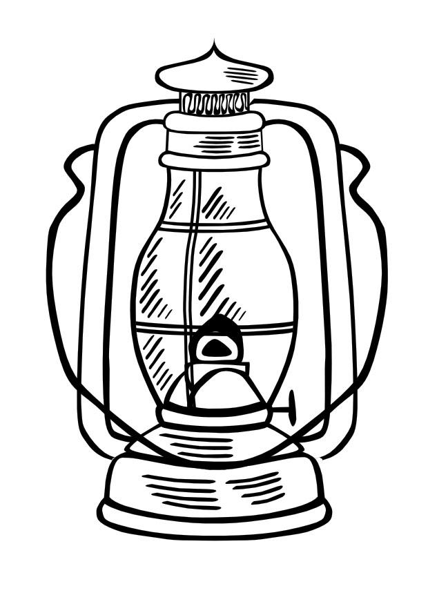 oil lamp. Coloring page oil lamp
