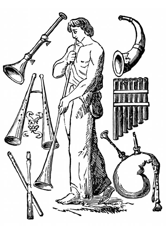 Coloring page old instruments