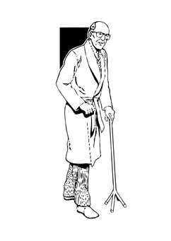 Coloring page old man