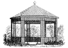 Coloring pages old pavilion