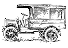Coloring pages old truck